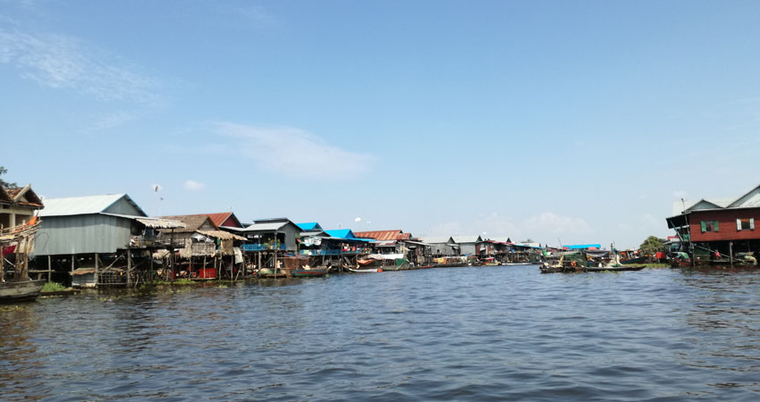 Kampong Phluk Fishing Village on Tonle Sap lake